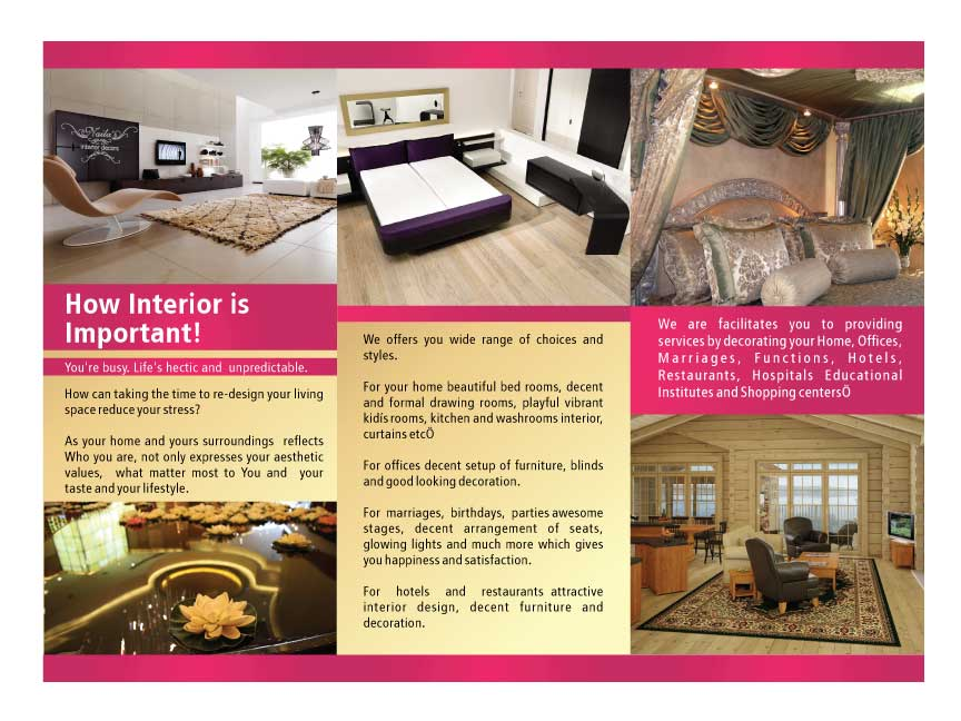 Interior design brochure dreven media group for Interior design brochures